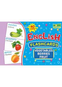 English : flashcards. Vegetables, berrieds, fruit (Флеш-картки Овочі, ягоди та фрукти) фото