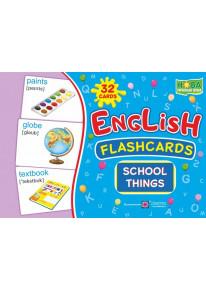 English : flashcards. School things (флеш-картки Шкільні речі) фото