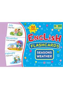 English : flashcards. Seasons. Weather (флеш-картки Пори року та погода) фото