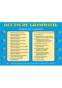 Комплект таблиць «Граматика німецької мови» фото