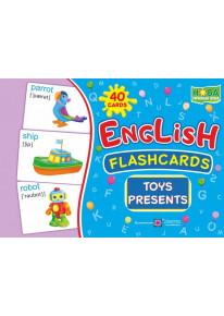 English : flashcards. Toys, presents (флеш-картки Іграшки та подарунки) фото