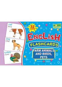 English : flashcards. Farm animals, birds and pets (флеш-картки Тварини і птахи ферми) фото