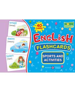 English : flashcards. Sports and activities (флеш-картки Заняття спортом і діяльність) фото